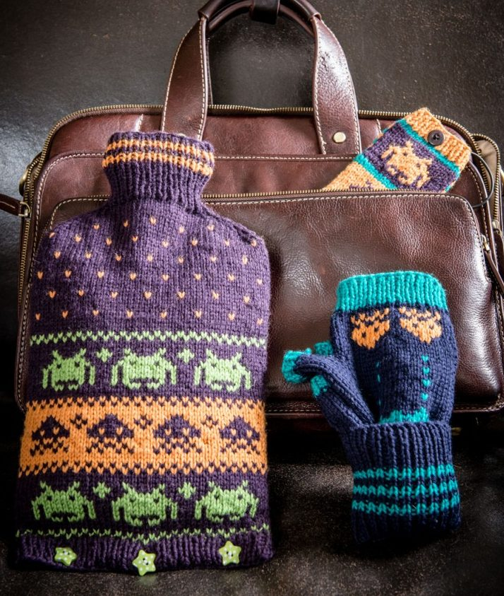 Free Knitting Pattern for Space Invaders Set