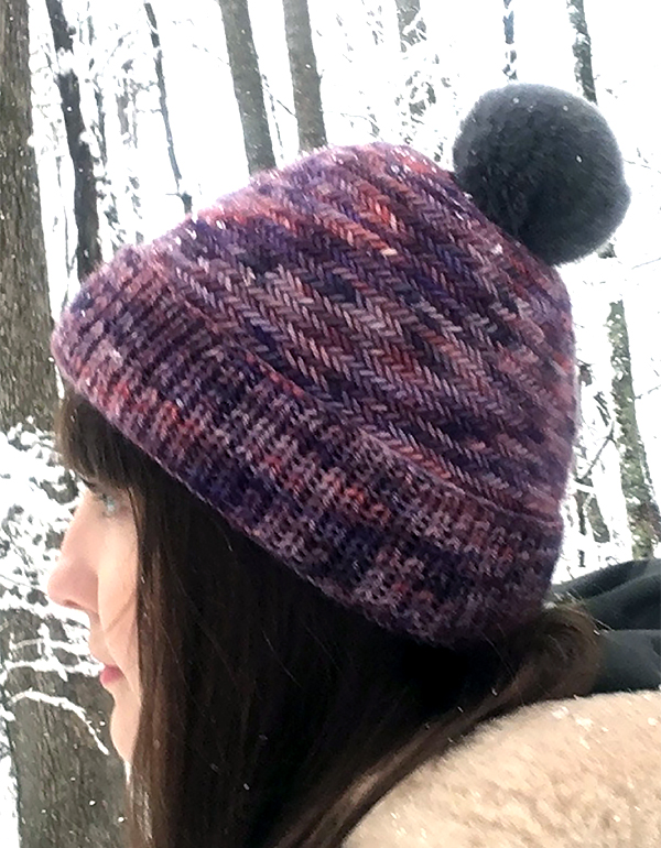 Free Knitting Pattern for Herringbone Stitch Hat
