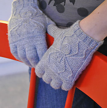 Knitting Project for Spider Gloves
