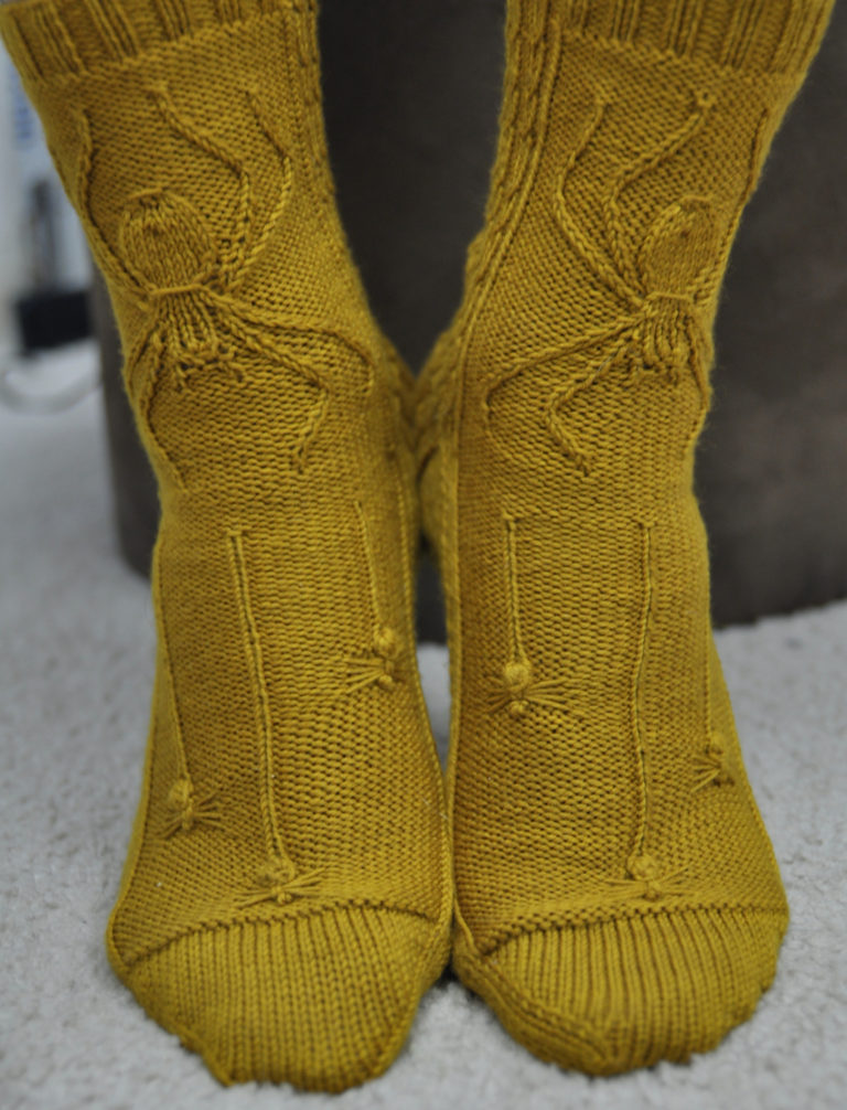 Free Knitting Pattern for Spider Socks