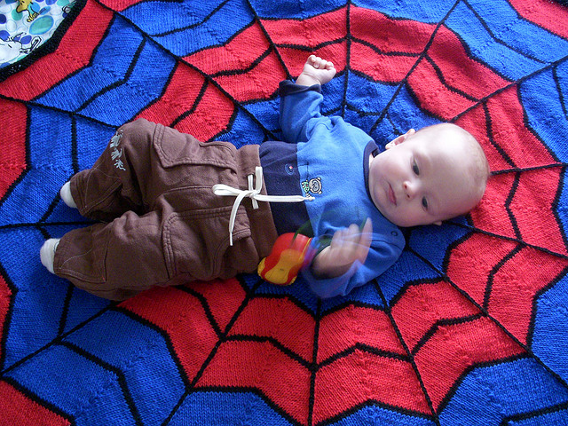 Spiderman Blanket Free Knitting Pattern