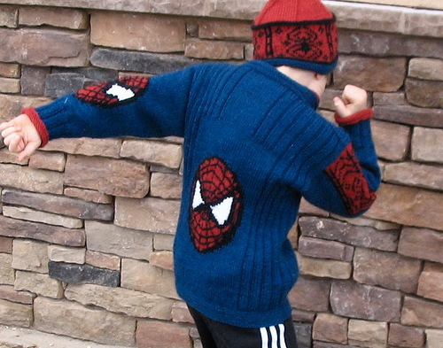 Spiderman Jacket Free Knitting Pattern