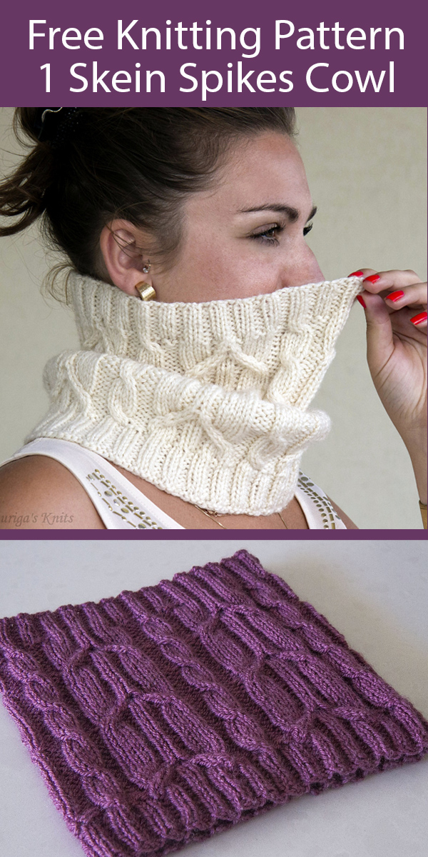 Free Cowl Knitting Pattern for Spikelets Cowl