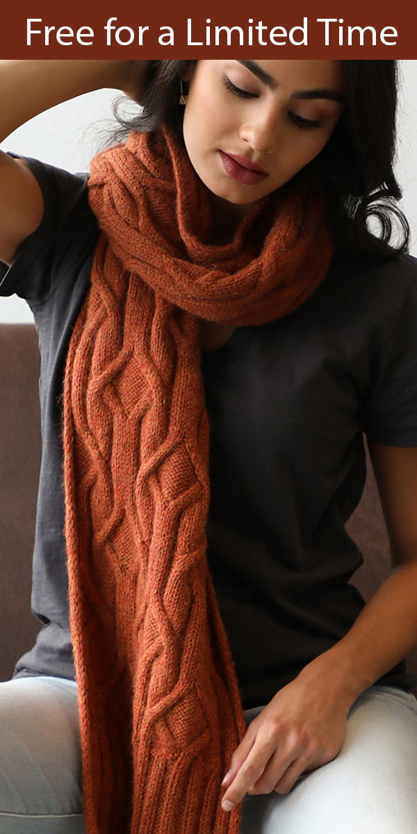 Knitting Pattern for Spinel Scarf