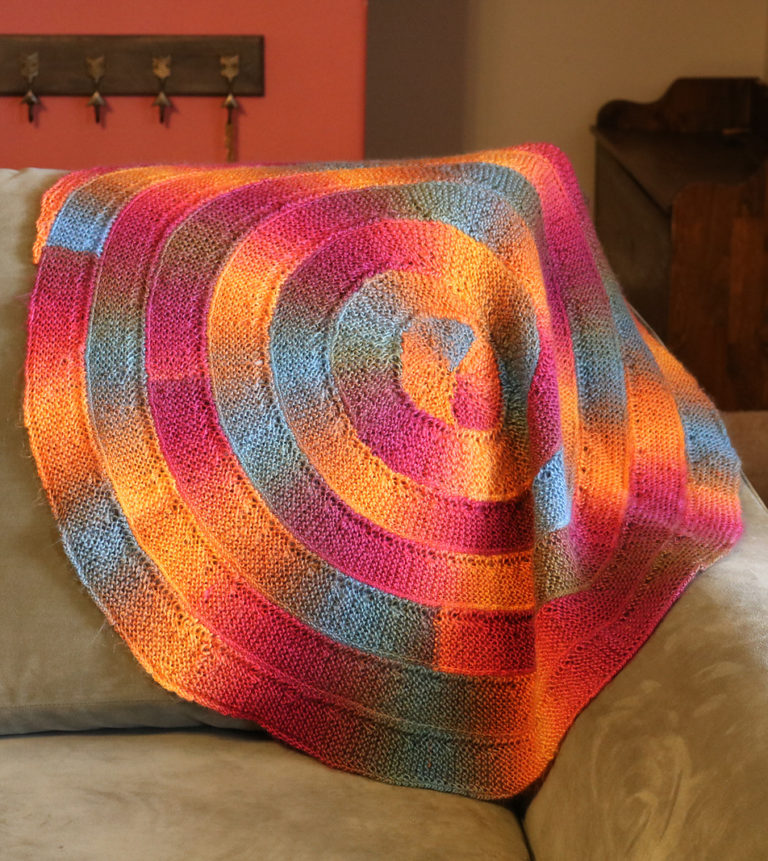 Free Knitting Pattern for Ten Stitch Spiral Blanket