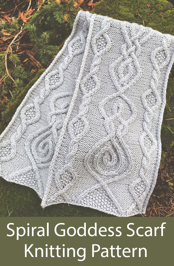 Knitting Pattern for Spiral Goddess Scarf