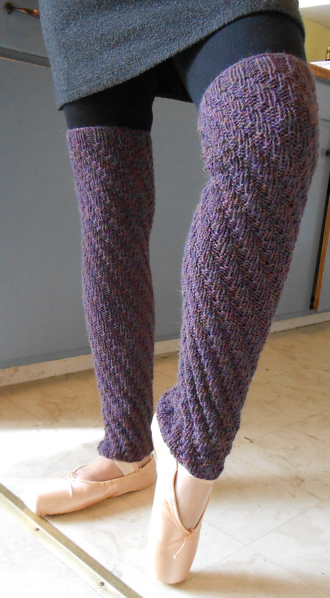 Free Knitting Pattern for Spiral Rib Legwarmers