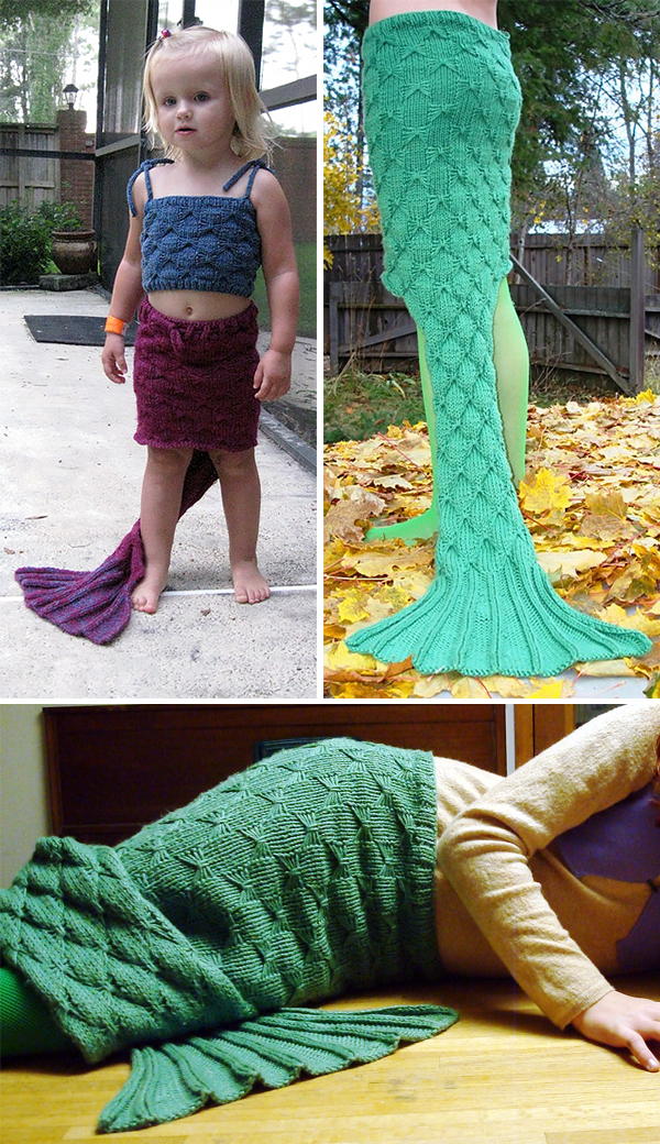 Knitting Pattern for Mermaid Skirt and Top