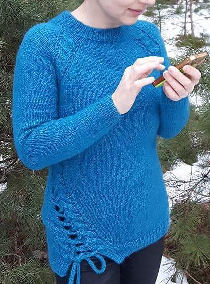 Free Knitting Pattern for Split Ends Pullover