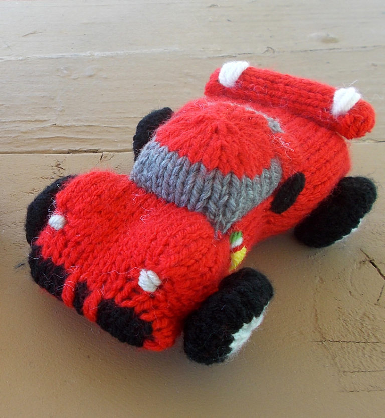 Free Knitting Pattern for Sports Car Toy