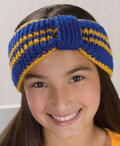 Free Knitting Pattern for Sporty Headband