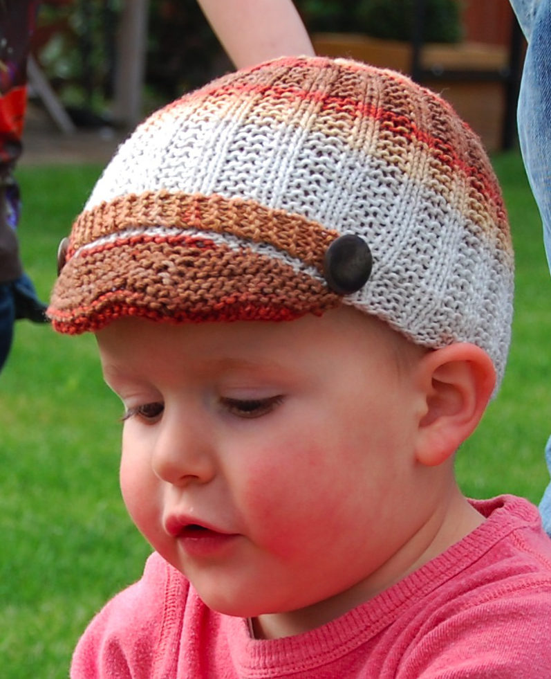 Free Knitting Pattern for Baby Beanie with Bill