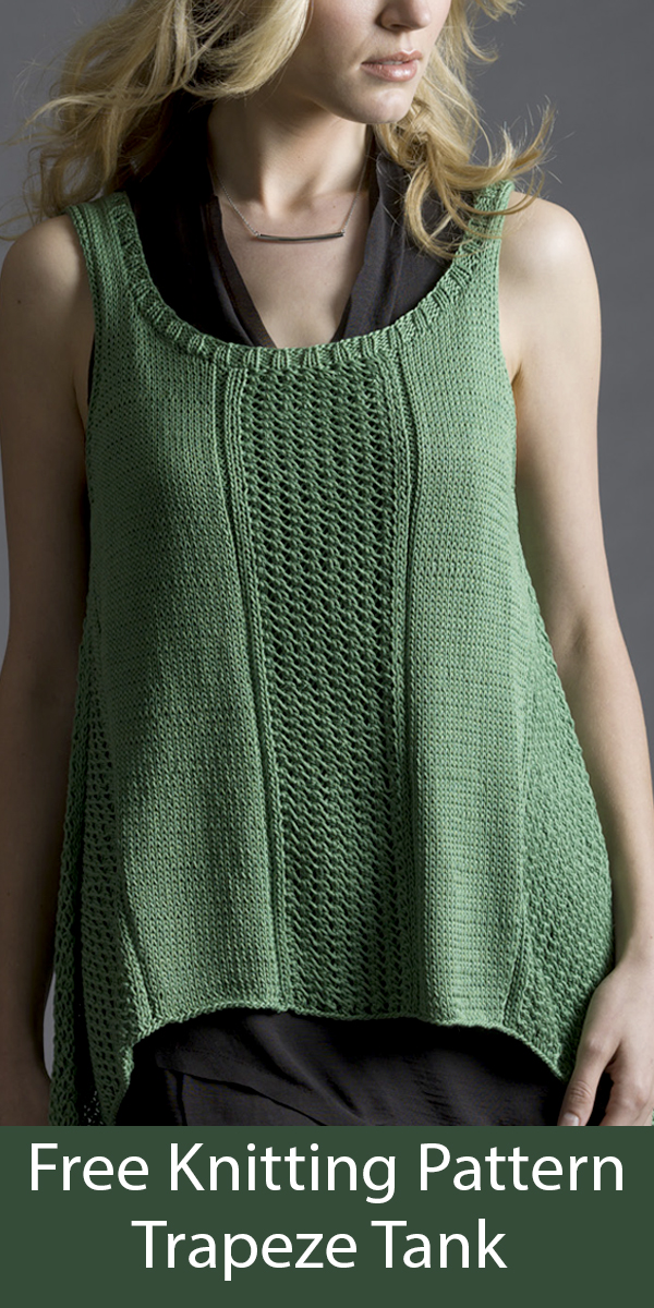 Free Knitting Pattern for Trapeze Tank Top