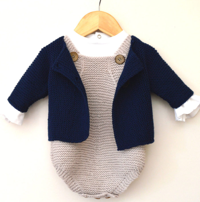 Knitting Pattern for Spring Into Summer Romper and Jacket Set