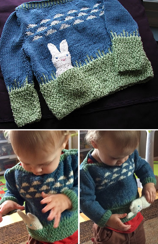 Free Knitting Pattern for Spring Meadows Toddler Sweater