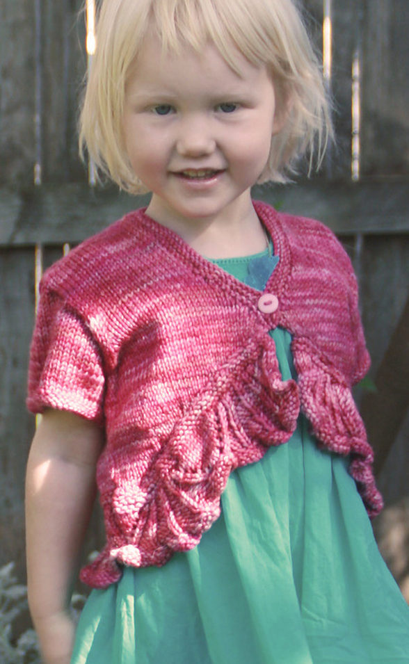 baby and child shrugs and boleros knitting patterns in