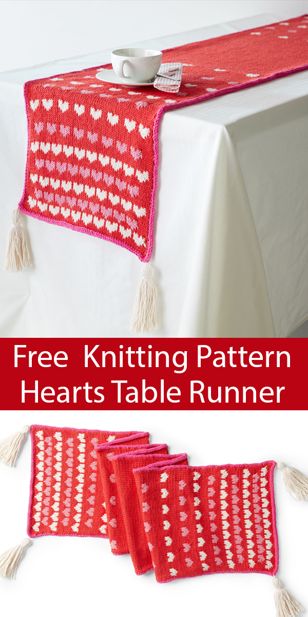 Free Knitting Pattern for Sprinkle of Love Table Runner