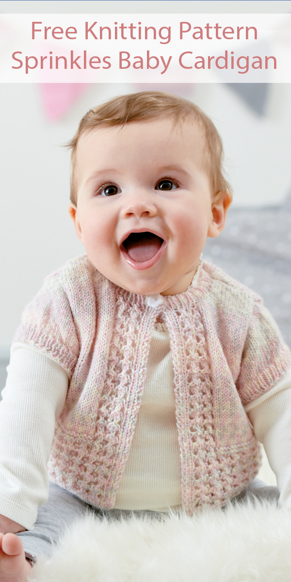 Free Knitting Pattern for Sprinkles Baby Cardigan