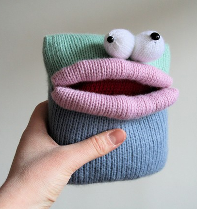 Free knitting together for Square Bellied Monster pouch