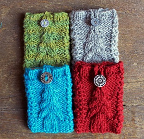 Free knitting pattern for Tree Gift Card-igans and more gift wrap knitting patterns