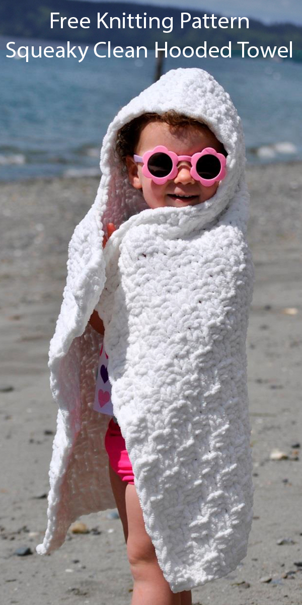 Free Knitting Pattern for Squeaky Clean Hooded Towel