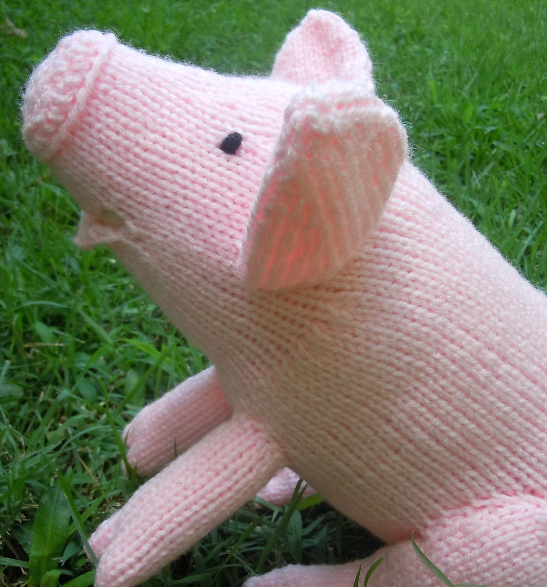 Free Knitting Pattern for Squeal Pig Softie