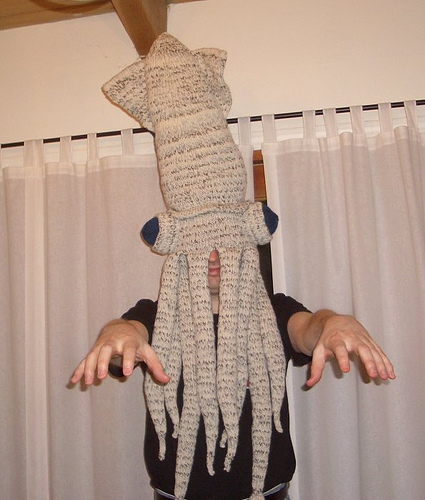 Squid Hat Free Knitting Pattern and more fun hat knitting patterns