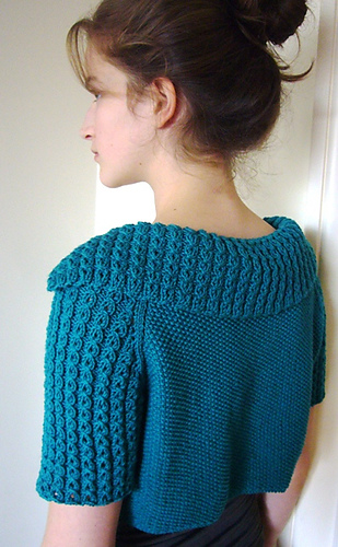 Knitting pattern for St John's Wort Cropped Cardigan