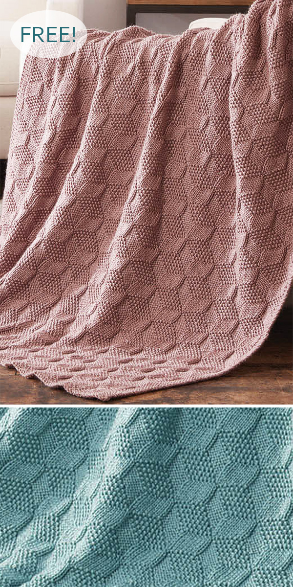 Free Knitting Pattern for Stack Up Blocks Blanket