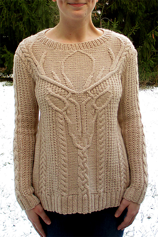 Knitting Pattern for Stag Head Pullover