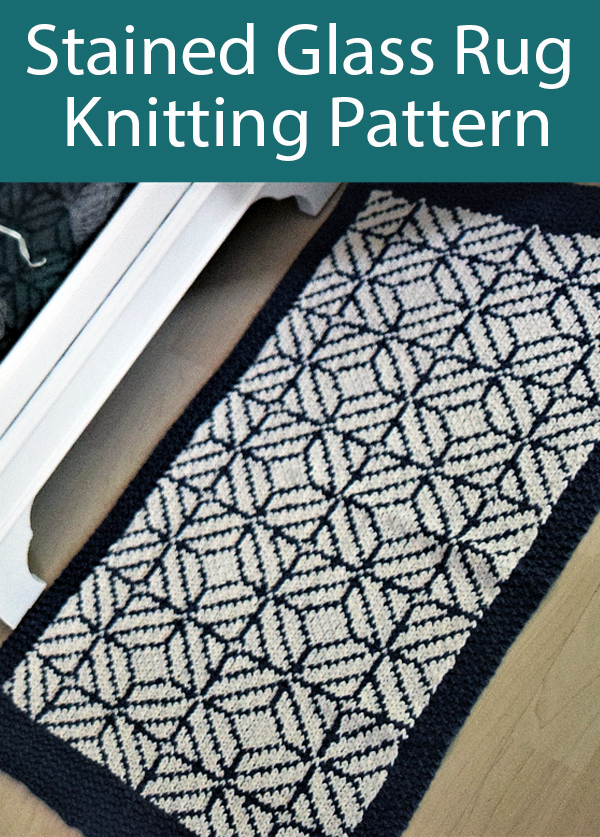 Knitting Pattern for Stained Glass Rug