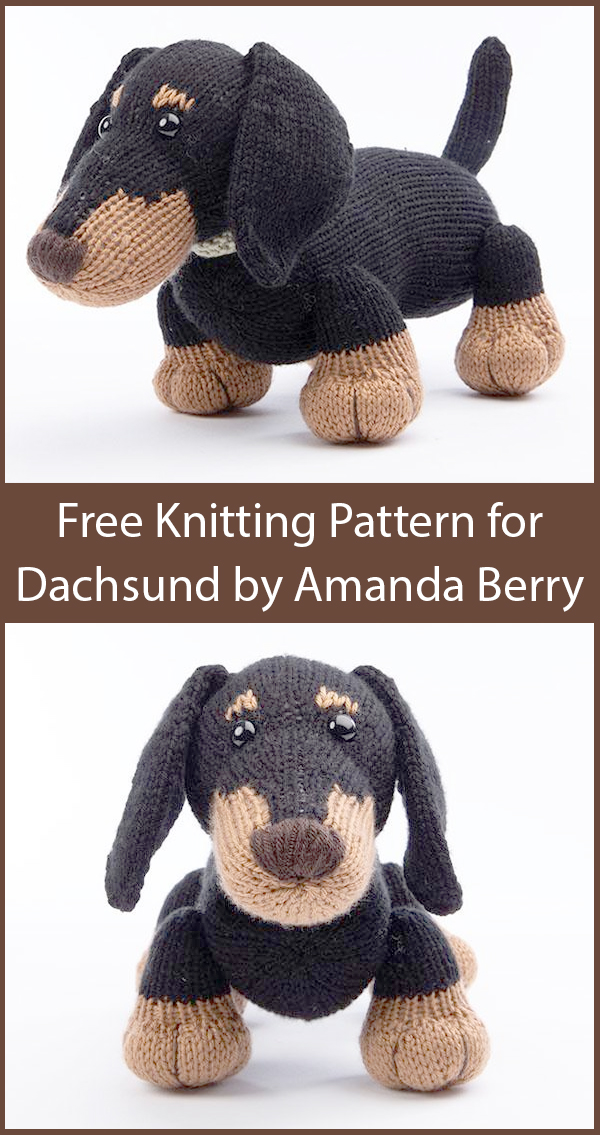 Free Knitting Pattern for Dachshund by Amanda Berry