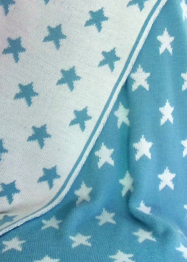 Free Knitting Pattern for Star Baby Blanket