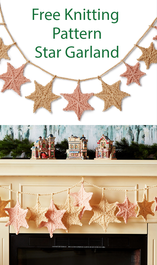 Free Knitting Pattern for Star Garland