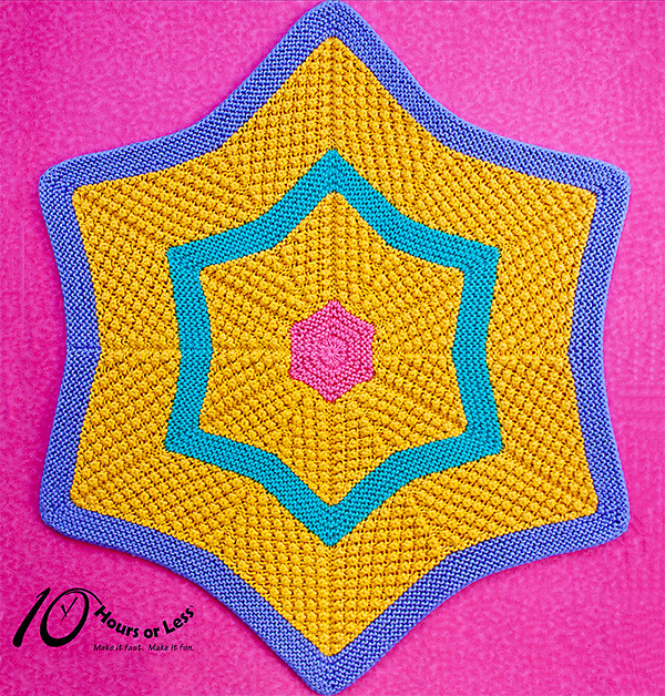 Knitting pattern for Star Light, Star Bright Baby Blanket by 10 Hours or Less