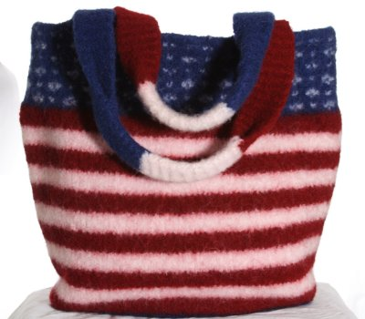 Free knitting pattern for Star Spangled Tote