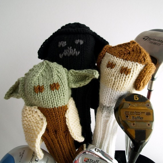 Knitting pattern for Star Wars golf club covers and more Star Wars knitting patterns