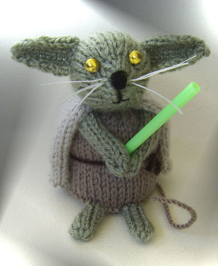 Free Knitting Pattern for Star Wars Jedi Mouse