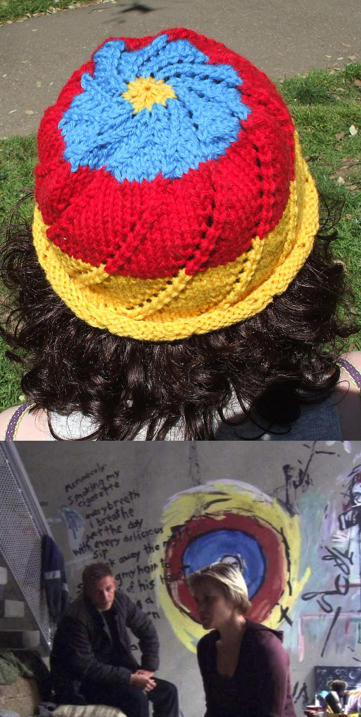 Free Knitting Pattern for Starbuck's Mandala Hat
