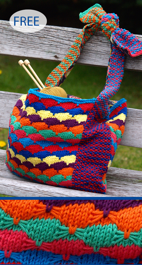 Free Knitting Pattern for Starburst Bag