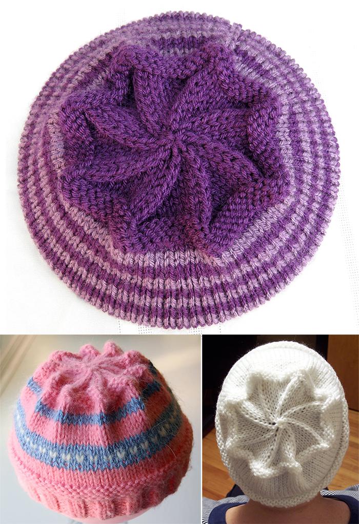 Free Knitting Pattern for Starburst Hat