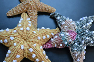 Knitting pattern for Starfish and more sea creature knitting patterns