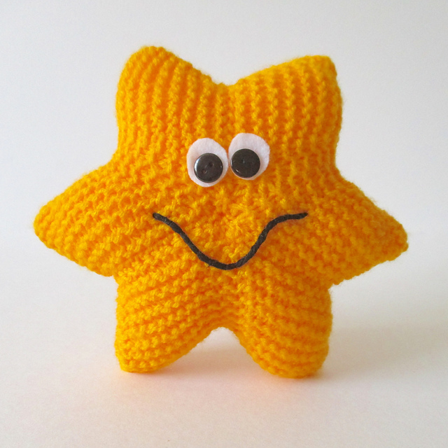 Free knitting pattern for Starfish softie toy