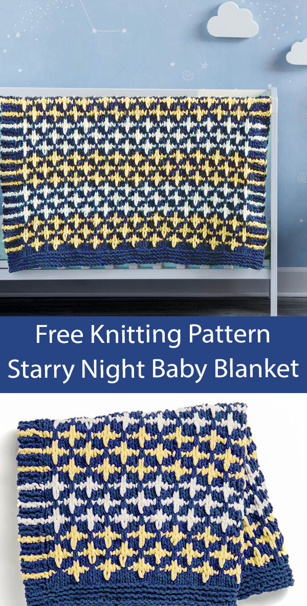 Free Baby Blanket Knitting Pattern Starry Night Baby Blanket