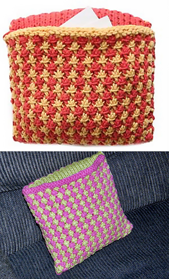 Free Knitting Pattern for Starry Treasure Pillow