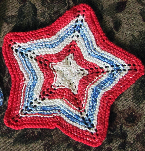 Free knitting pattern for Star Dishcloth and more star knitting patterns