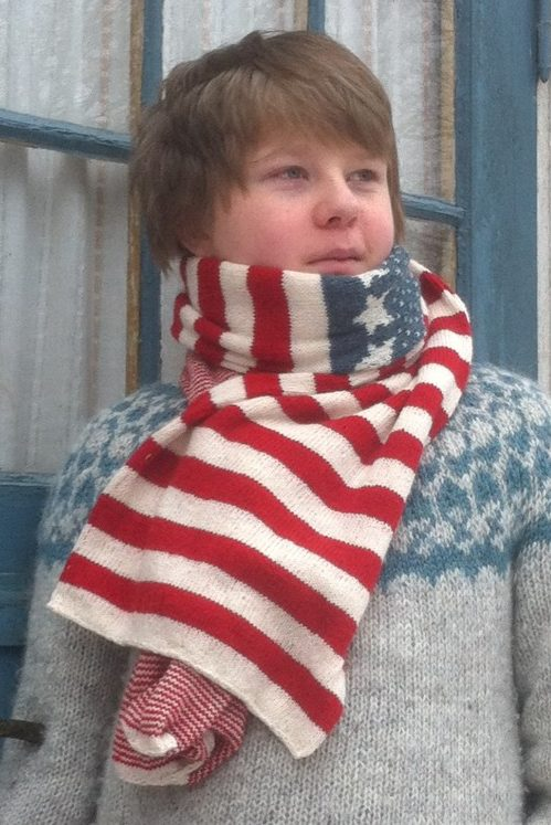 Free knitting pattern for Stars and Stripes Scarf