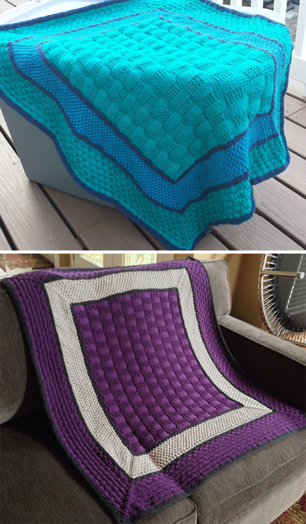 Free Knitting Pattern for Start-in-the-Center Baby Blanket