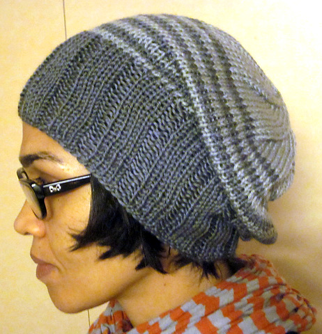 Free knitting pattern for Striped Light Stashbuster Slouch Hat - Karen Wrai  Karn s slouchy hat features 4e277931a6e8