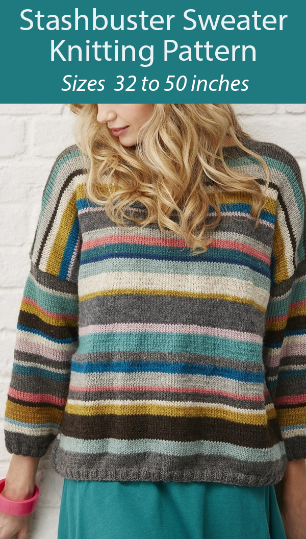 Knitting Pattern for Stashbuster Sweater